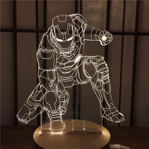 Ideas de Corte y Grabado Láser | Lámpara de Efecto 3D